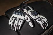 Мотоперчатки кожаные Duhan D-T2 (белые)
